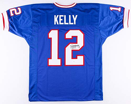 Jim Kelly Autographed Blue Buffalo Bills Jersey - Hand Signed By Jim Kelly and Certified Authentic by JSA - Includes Certificate of - Buffalo Blue Bills Jersey Style