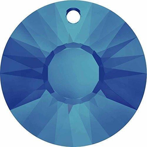 (6724 Swarovski Pendant Sun   Crystal Bermuda Blue P   12mm - Pack of 5   Small & Wholesale Packs)