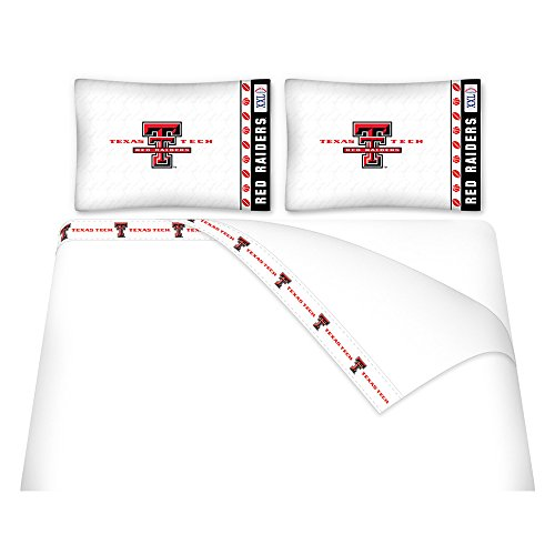 Tech Twin Sheet Set - NCAA Texas Tech Red Raiders Micro Fiber Sheet Set (Twin)