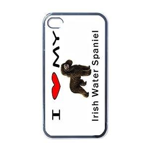 I Love My Irish Water Spaniel Black Iphone 4 and Iphone 4s Case 3