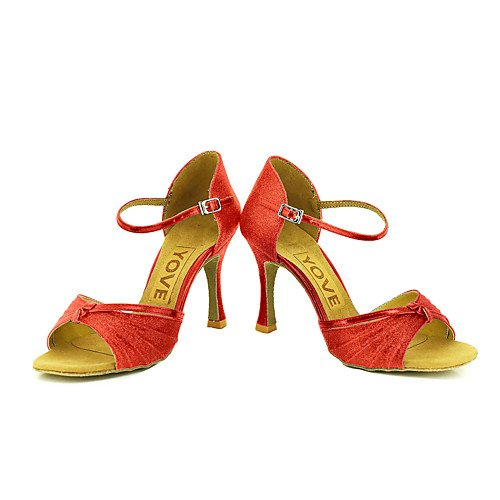 Sandals Indoor Profession Swing Women's Red Salsa Tango T T Practice Jazz Q Red Shoes Performance Dance Latin 8644Cw