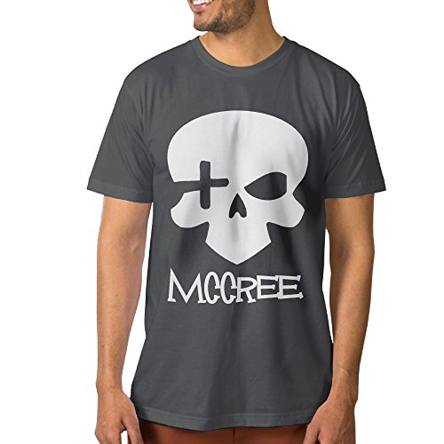 PTCYM Ow Mccree Skull Particular Men's T Shirts M - Kors Polaroid Michael