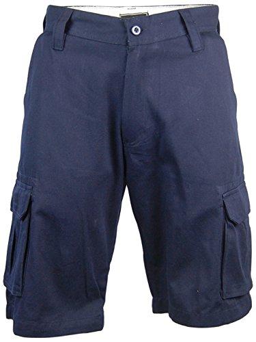 Casual Country Men's Cotton Cargo Shorts for Men (34, Navy)