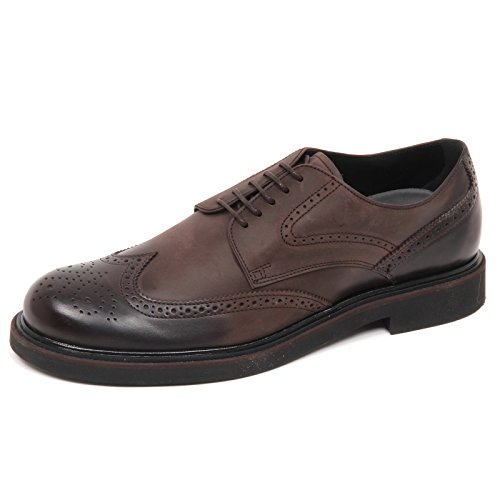 Tod's E2818 Scarpa Inglese Uomo Brown Derby Scarpe Shoe Man Marrone Scuro