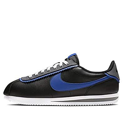 wholesale dealer af2b5 31197 Nike CD7253-002: Men's Cortez Basic SE Black/Game Royal/Dark Grey Sneakers
