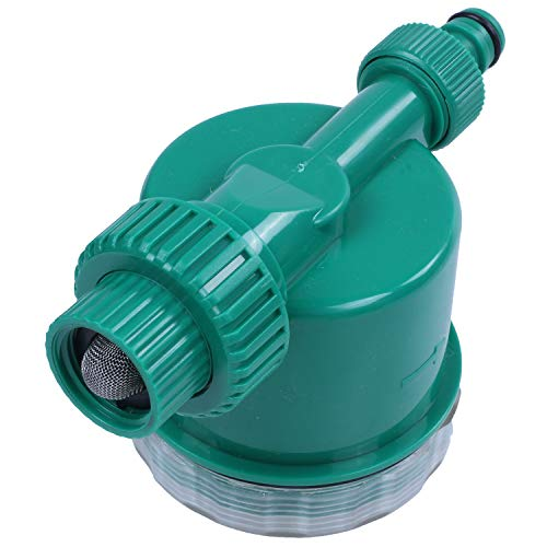 Moligh doll 1 Set(7 Pcs) Home Garden Irrigation Drip Timer Pipe Splitter 4 Way Tap Connectors Quick Connector 3/4 Screw Thread ()