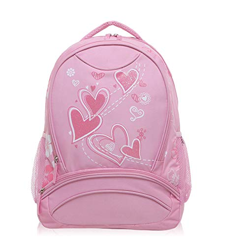 Hynes Eagle Sweetheart Pattern Backpack Pink