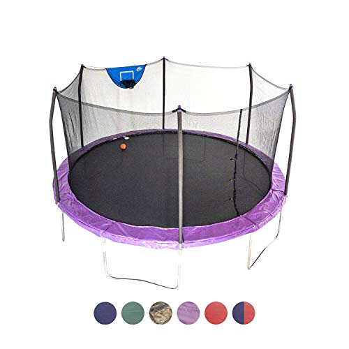 Skywalker Trampolines 15-Foot Jump N' Dunk Trampoline with...