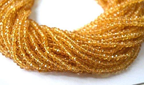 Citrine Faceted rondelle Beads,Natural Citrine Beads, Citrine Loose Gemstone Beads Necklace 13.5