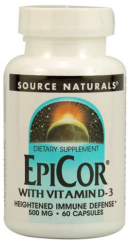 Source Naturals EpiCor® with Vitamin D-3 -- 500 mg - 60 Capsules - 2PC by Source Naturals