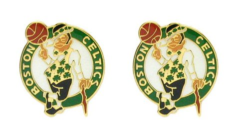 NBA Boston Celtics Logo Post Earrings