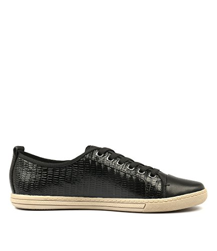 Leather Casuals Black Shoes Womens Alladin Croc Sneakers Black Emb Leather SUPERSOFT Black wR140tnq