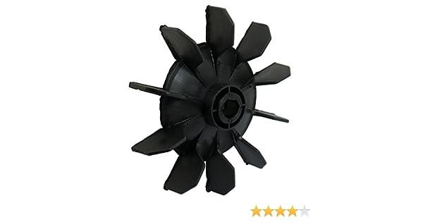 SODIAL(R) Hoja del ventilador de motor de diez palas 14mm diametro interno plastico negro Pieza del compresor de aire: Amazon.es: Iluminación