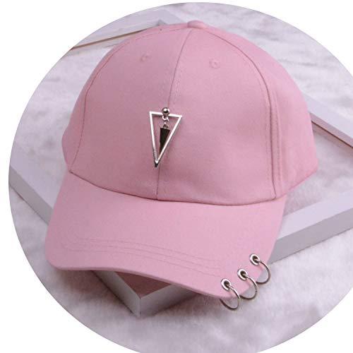 女性 リング野球帽 男性女性 白黒 野球の帽子,三角ピンク