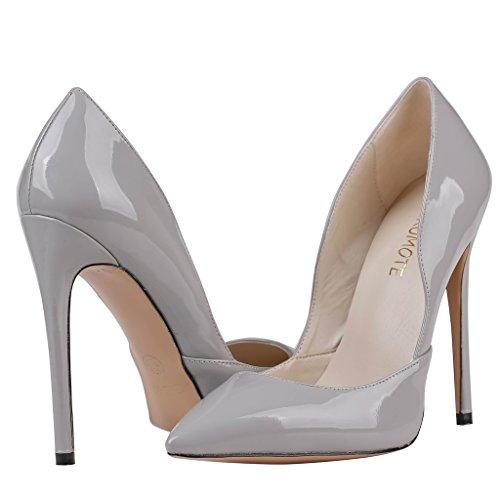 MERUMOTE - Zapatos de tacón fino Mujer Gris - Grau-Lackleder