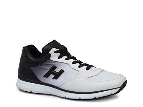 Hogan Homme HXM2540Y280ZPO0001 Blanc/Noir Cuir Baskets