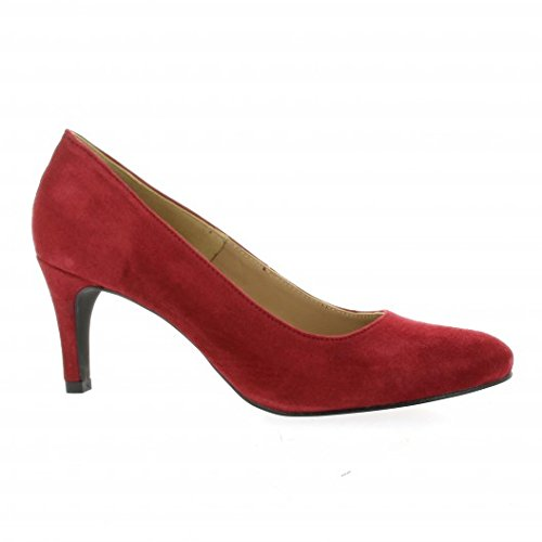 Rouge Rouge Cuir Pao Escarpins Velours X8zSqq1