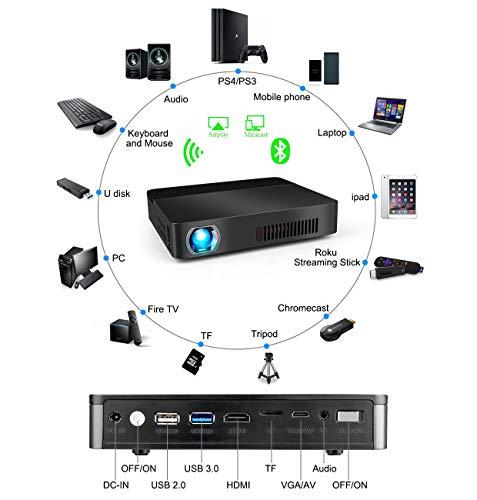 SHOPUS | SeoJack Portable 3D Projector, Smart WiFi Projector
