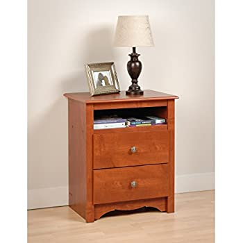 Prepac Monterey Cherry 2-Drawer Tall Night Stand