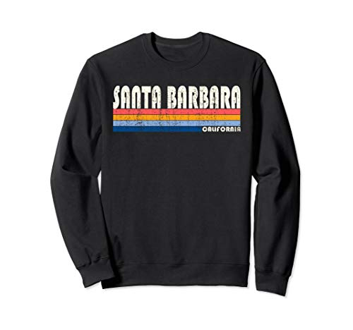Vintage 70s 80s Style Santa Barbara CA Sweatshirt ()