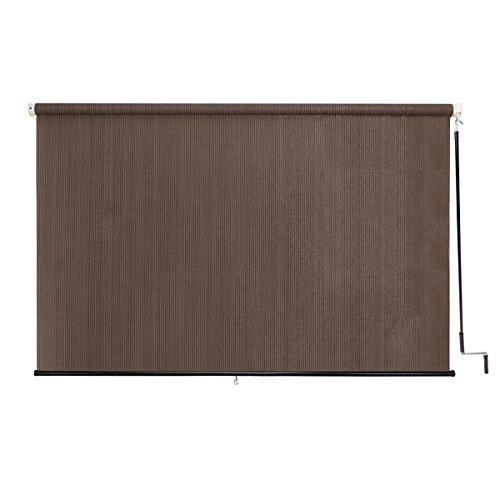 Sunlax 8 x 6 exterior cordless sun roller shade uv block - Exterior sun blocking window shades ...