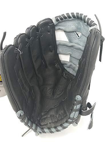 Wilson Advisory Staff Yasiel Puig Youth Baseball Glove, Black/Grey, Left Hand Throw, 12-Inch by Wilson
