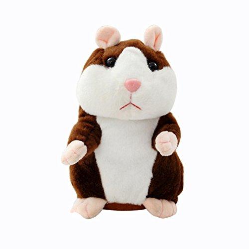 New Adorable Plush (OVERMAL Adorable Mimicry Pet Speak Talking Record Hamster Mouse Plush Kids Toys)
