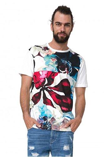 Desigual Camiseta Hawaii Blanca para Hombre S Blanco: Amazon.es ...