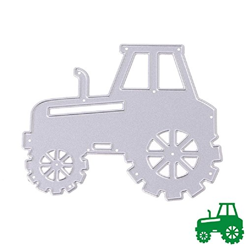 [Bottone Metal Cutting Dies Stencil Template Mould for DIY Scrapbook Album Paper Card Craft Decoration New(Tractor)] (New Prima Chipboard)