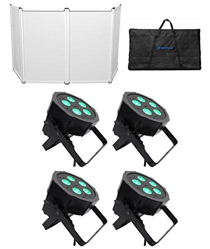 American DJ Mega QPlus Go Battery Powered Par Lights+Free