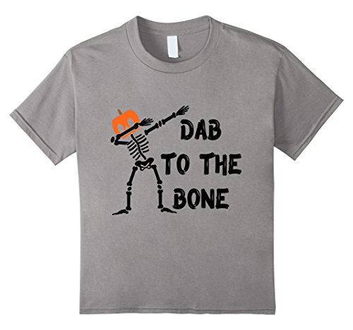 Dab to the Bone Skeleton T-Shirt Pumpkin Head Instead of Skull