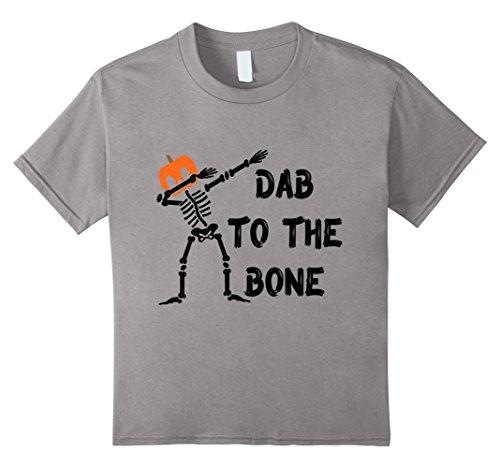 Dab to the Bone Skeleton T-Shirt Pumpkin Head Instead of Skull