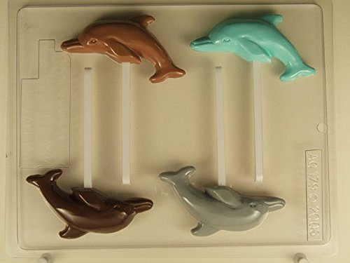 Dolphin Lollipop AO179 All Occasion Chocolate Candy - Plastic Dolphin Mold