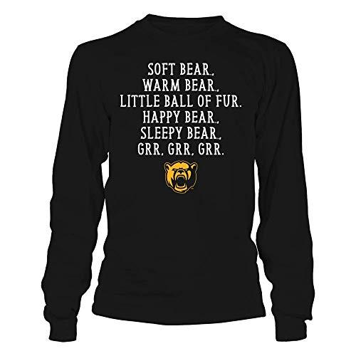 FanPrint Baylor Bears T-Shirt - Soft Warm - Longsleeve Tee/Black/L
