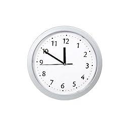 Truu Design, Wall Clock with Hidden Safe, 10 x 10 inches, Grey