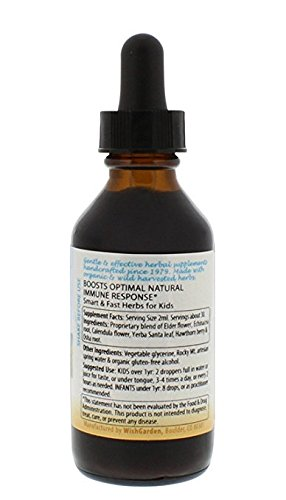 WishGarden Herbs - Kick-it Immune For Kids, Organic Herbal Immune System Supplement, Specially Formulated for Kids (2 oz)