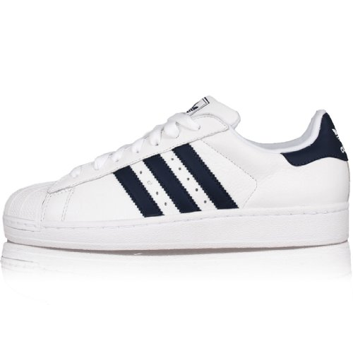 adidas Superstar II, Sneaker Uomo Bianco e blu marino