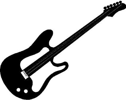 GUITAR WALL ART STICKERS DECALS GRAPHICS BLACK