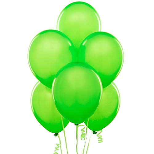 Lime 12 Inch Thickened Latex Balloons, Pack of 100, Premium Helium Quality for Wedding Bridal Baby Shower Birthday Party Decorations Supplies Ballon Baloon - Inch Neon Light 12