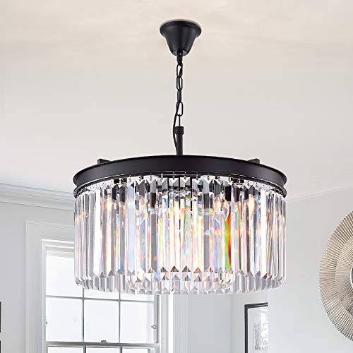 Lumos Luxury Modern Crystal Chandelier Pendant Ceiling Lamp/Crystal lighting fixture for Dining Room, Living Room (5 lights) ()