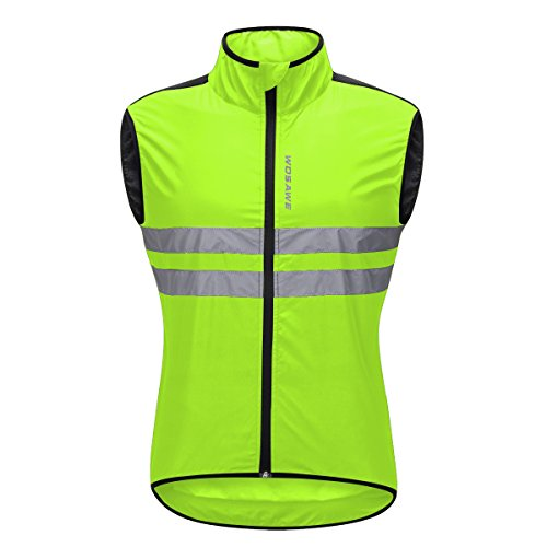Bill&Candy Men's High Visibility Cycling Vest Sleeveless Reflective Bicycle Gilet (Green, XX-Large) by Bill&Candy
