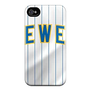 Premium TMC6862MJvf Case With Scratch-resistant/ Milwaukee Brewers Case Cover For Iphone 4/4s
