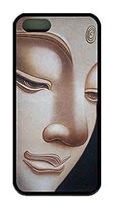 Buddha Face Theme Iphone 5 5S Case TPU Material
