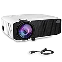 Projector, Turewell Mini Projector, 2400 Lumens 176'' Display Portable LED Projector, Multimedia Home Theater Video Projector with HDMI Cable, Support 1080P HDMI USB SD Card VGA AV TV Laptop PC
