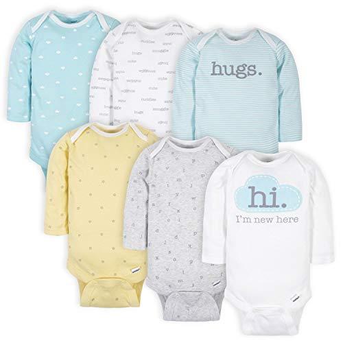 Gerber baby-girls 6 Pack Long-sleeve Onesies Bodysuit