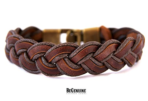 mens-leather-bracelet-brown-braided-cuff-wristband-wrap-bracelet-trendy-handmade-men-rustic-brown-le