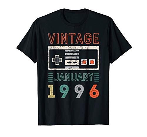 Vintage January 1996 23rd Birthday Shirt 23 Year Old Shirt]()