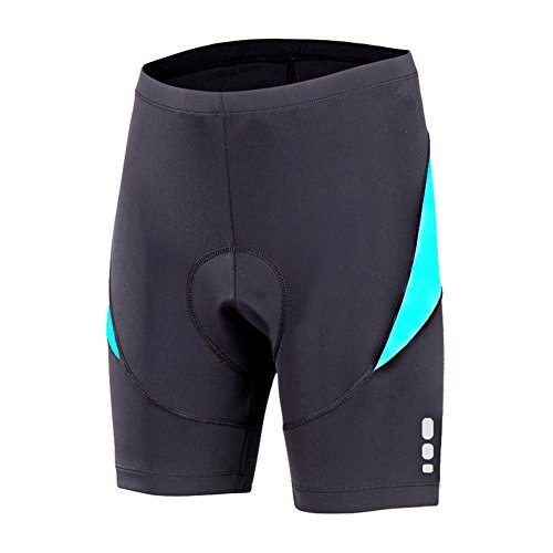 beroy Bike Shorts with 3D Gel Padded,Womens Gel Cycling Shorts, Turquoise-1, Medium