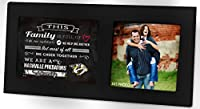 "KH Sports Fan 16""X8"" Nashville Predators Family Cheer Black Single NHL Photo Frame"