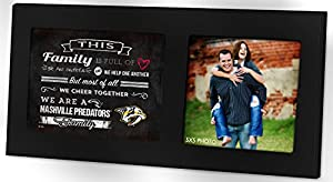 "KH Sports Fan 16""X8"" Nashville Predators Family Cheer Black Single NHL Photo Frame"